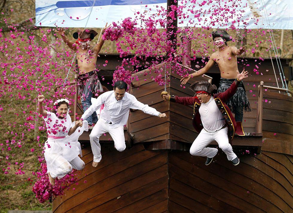 Thailandia, sposi all'avventura per San Valentino