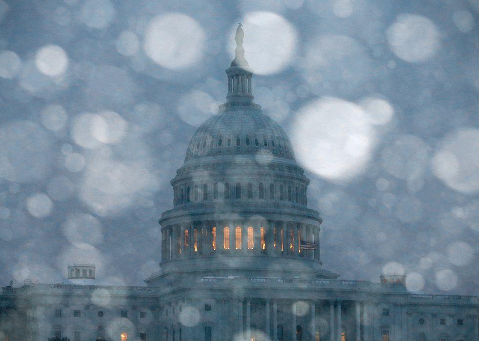 La neve a Washington e altre foto del giorno, 03.03.2014