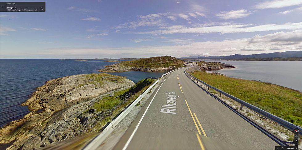 Google Street View sulla Strada dell'Atlantico