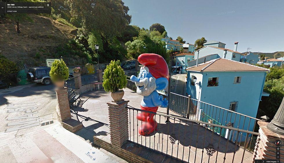"""Google Street View a Júzcar, il """"villaggio dei Puffi"""""""