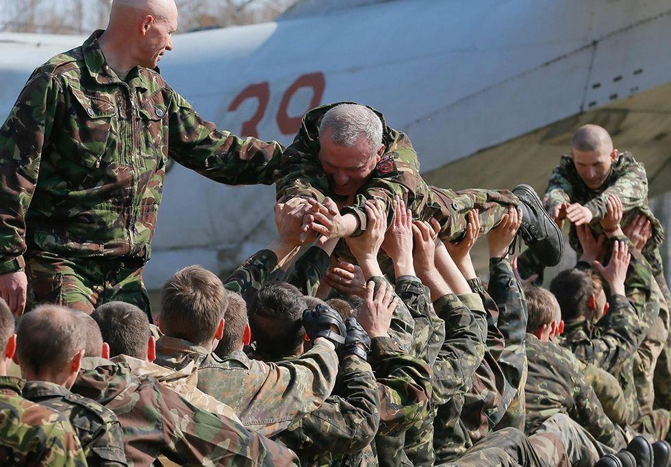 I soldati della nuova Guardia Nazionale Ucraina