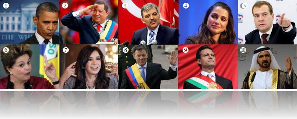 Twitter 2013:  la top ten dei leader mondiali