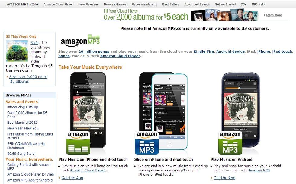 Amazon sfida iTunes con un web store a misura di cliente Apple