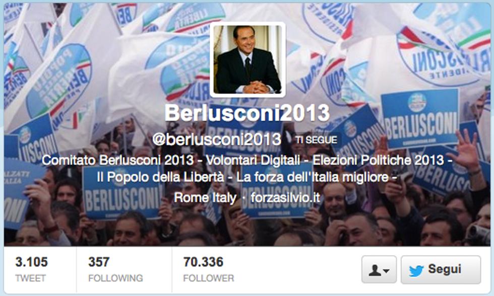 Berlusconi ad 'Italia Domanda': le reazioni di Twitter