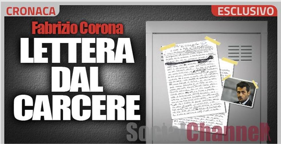 Fabrizio Corona, lettera dal carcere