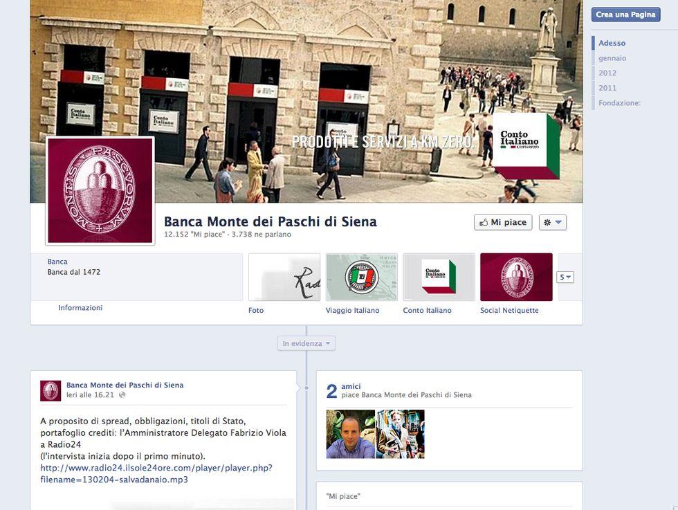 Scandalo Mps, su Facebook la campagna verità