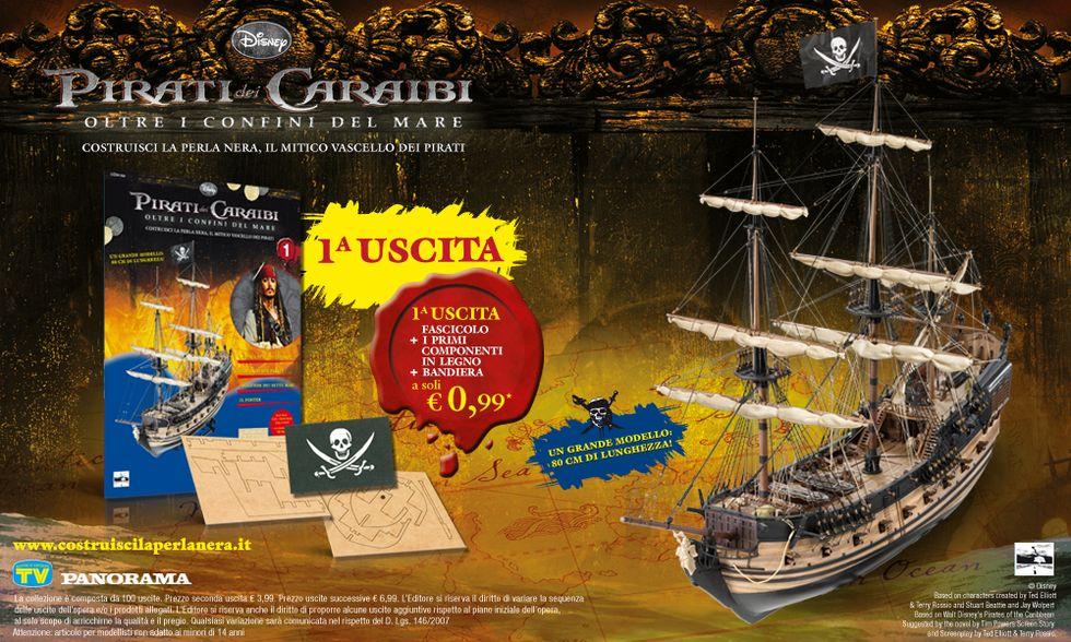Perla Nera, il mitico vascello dei Pirati dei Caraibi