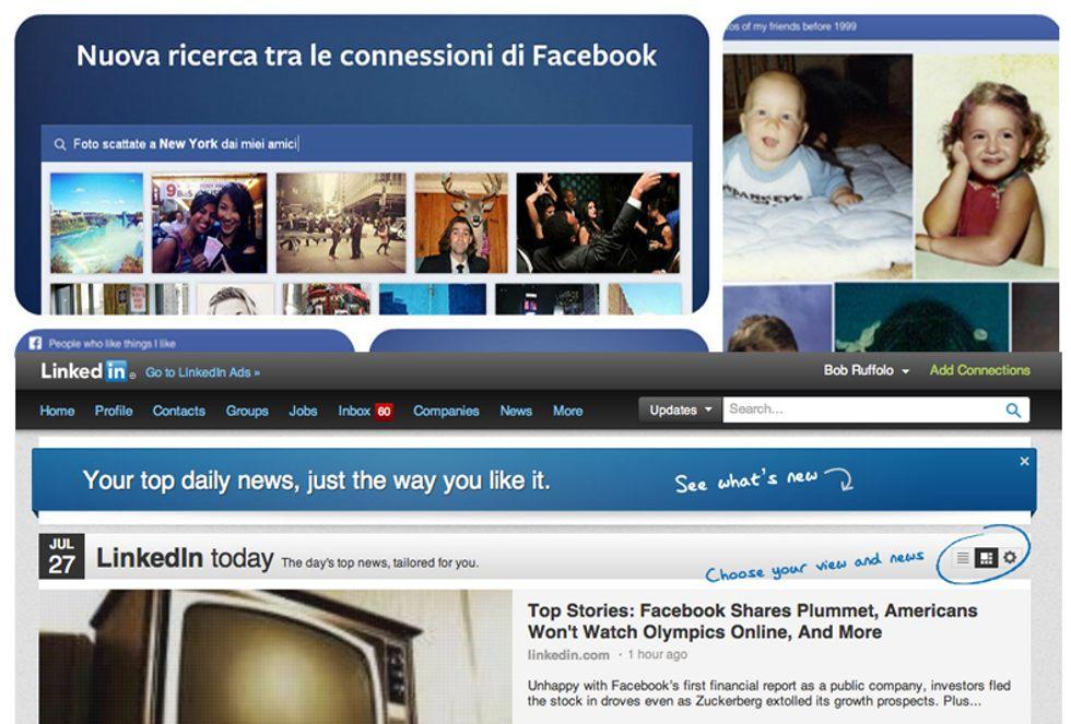 Facebook contro LinkedIn: chi ha la ricerca migliore?
