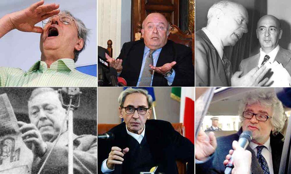 Gli artisti dell'insulto politico, da Pajetta a Grillo