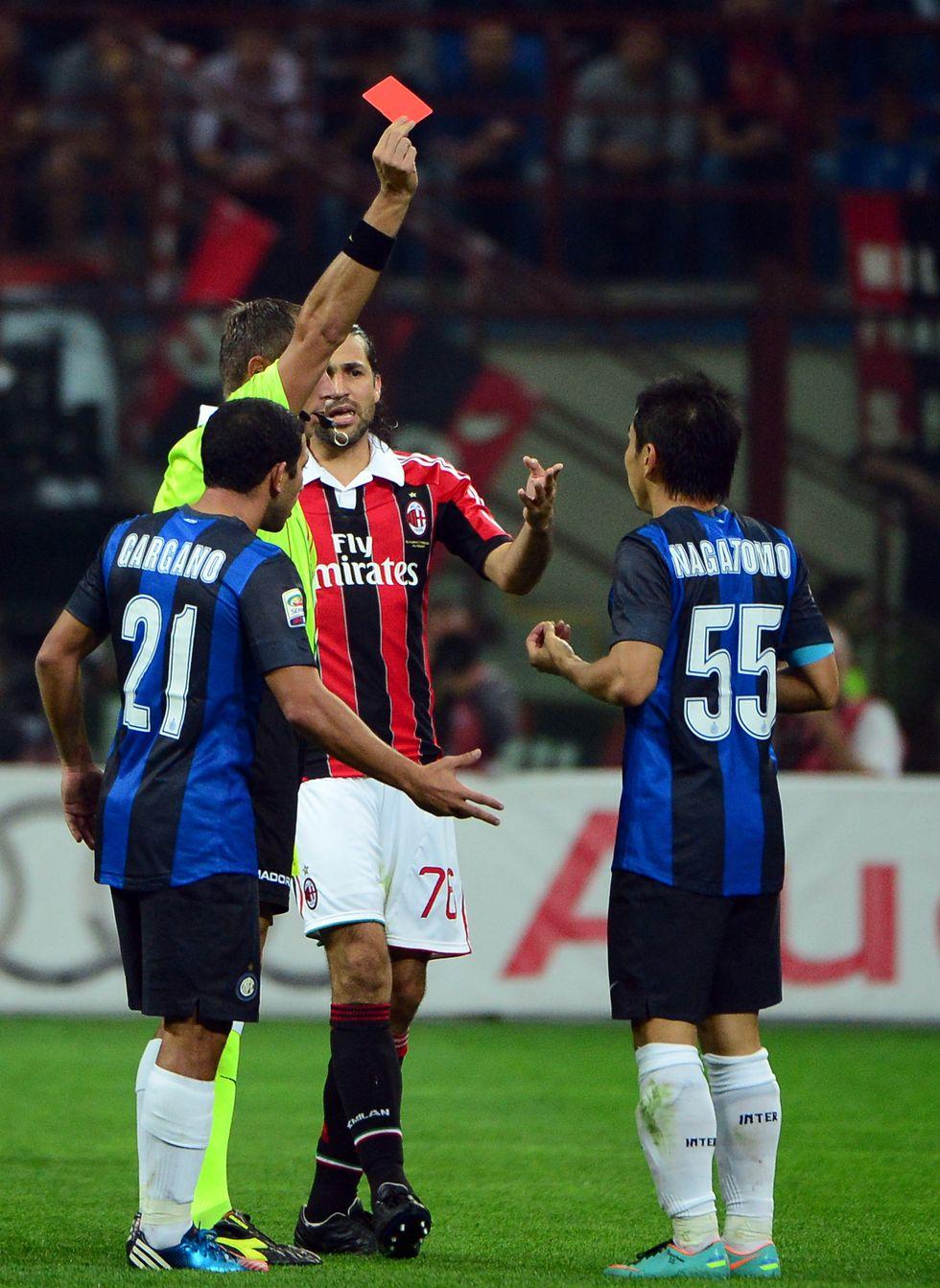 Inter e Milan a confronto: cartellini, squalifiche e rigori