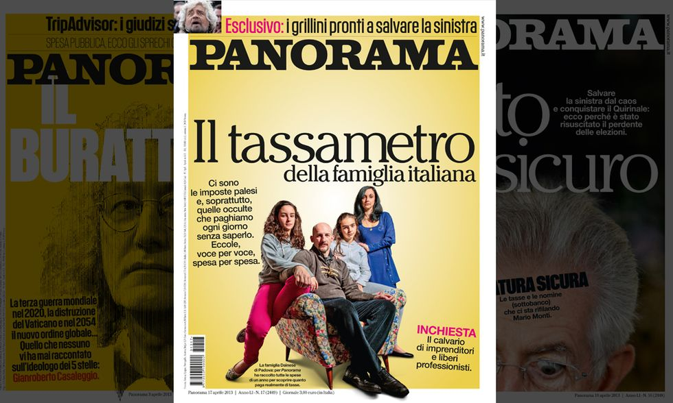 Panorama: il tassametro delle famiglie italiane