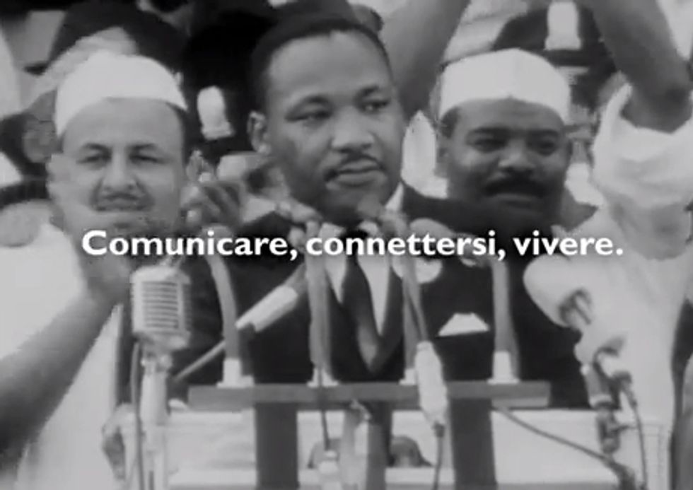 Martin Luther King e lo spot Telecom Italia