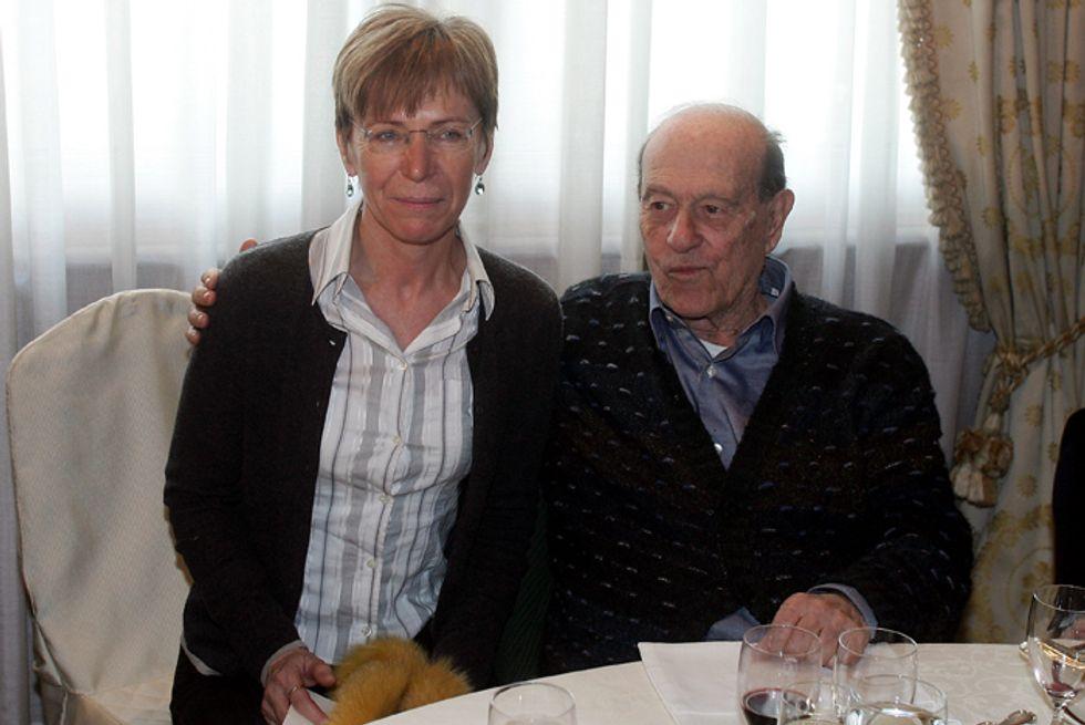 Giorgio Bocca con Milena Gabanelli