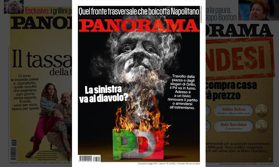 Panorama: Enrico Letta bruciato dalle fiamme del Pd?