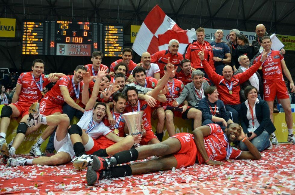 Volley: Copra Elior Piacenza, la squadra di senatori si gioca lo scudetto