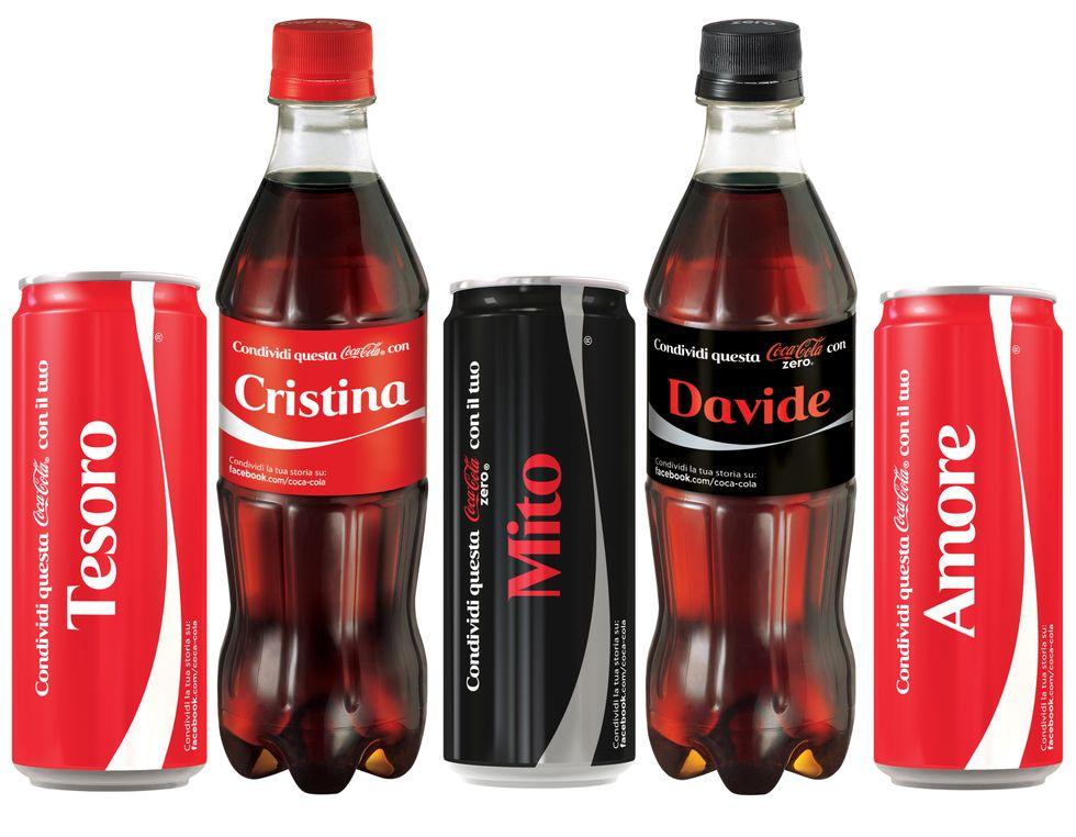 Coca-Cola, lattine personalizzate anche in Italia
