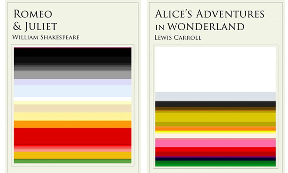 Le copertine dei classici raccontate con i colori