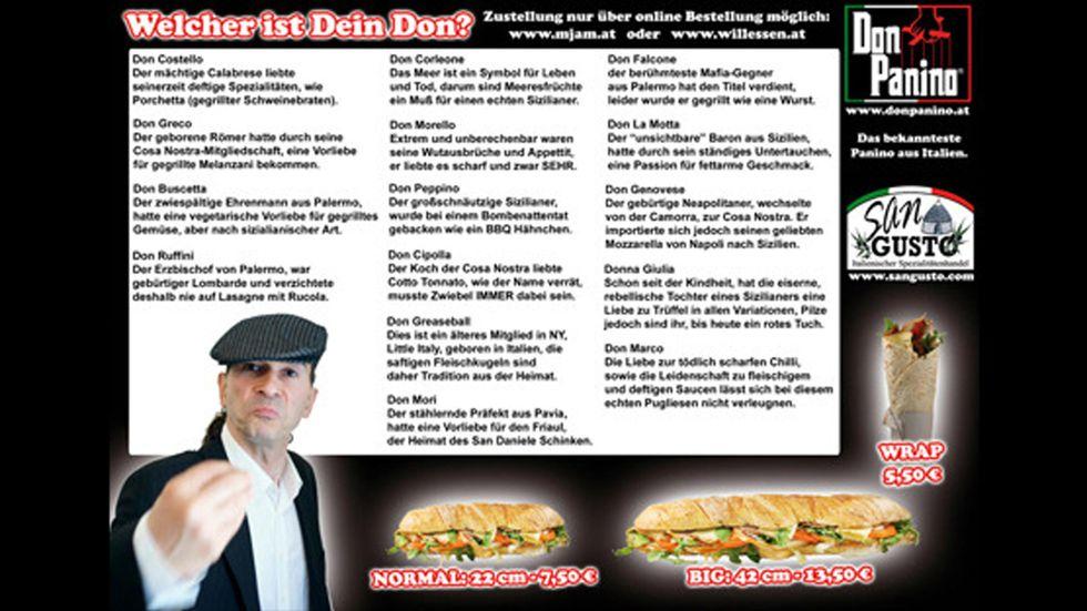 """Il menù degli orrori di una pizzeria """"mafiosa"""""""