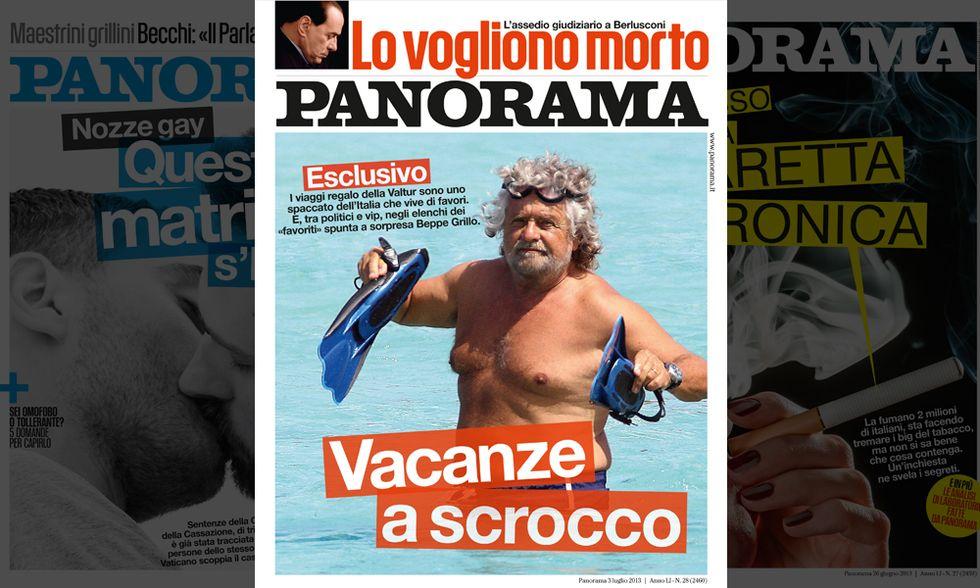 Panorama: i giudici contro Berlusconi (mentre Grillo va in ferie a scrocco)