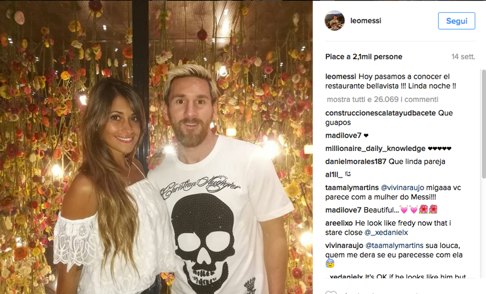 Lionel Messi e Antonella Roccuzzo