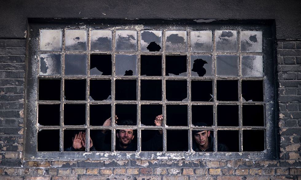 Belgrado, Serbia: migranti al freddo