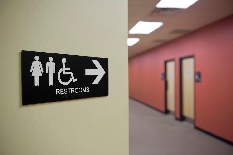Insegna di toilette pubblica