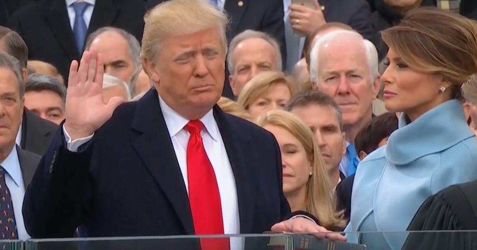 Giuramento Donald Trump presidente usa