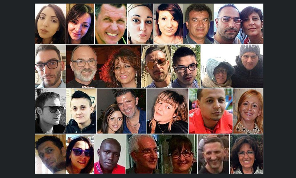 Hotel Rigopiano, le 29 vittime