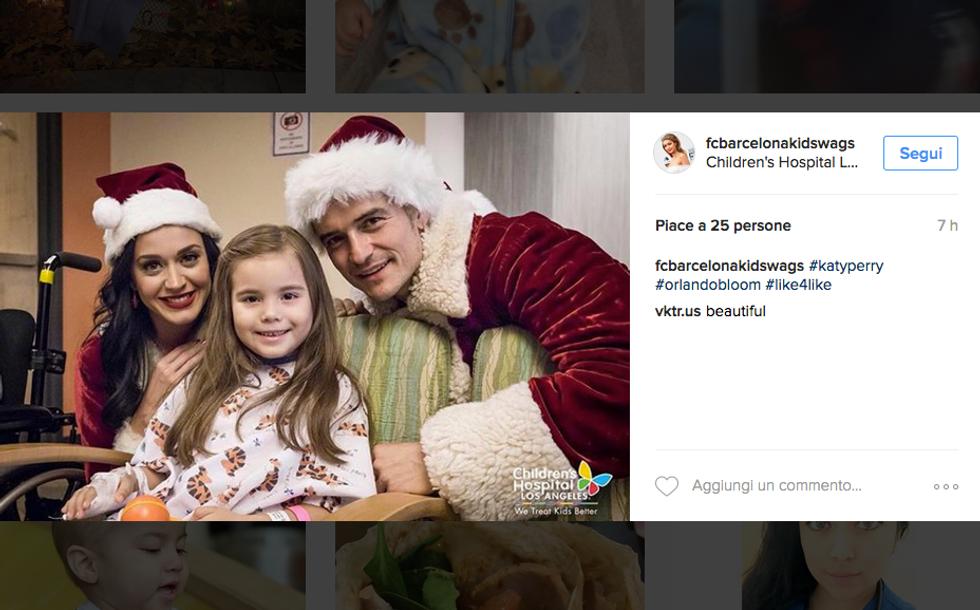 Orlando Bloom e Katy Perry in visita all'Ospedale per Bambini di Los Angeles