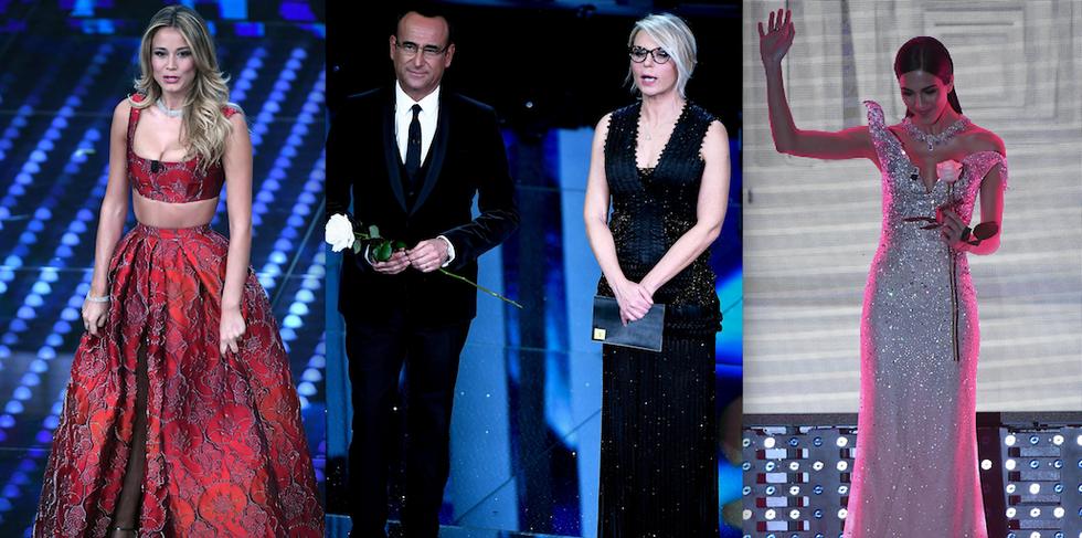 Sanremo 2017: le pagelle ai look della prima puntata