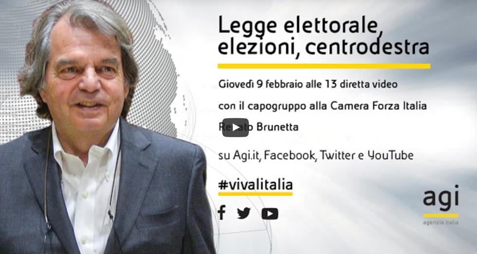 Renato Brunetta in diretta a Viva Italia