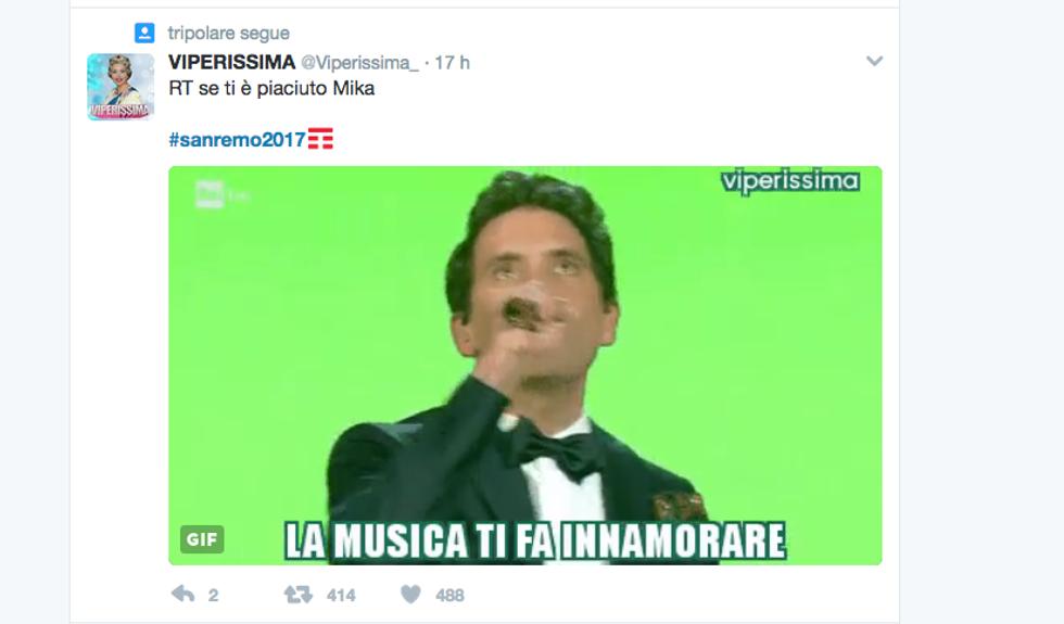 #Sanremo 2017, il Festival visto dai social