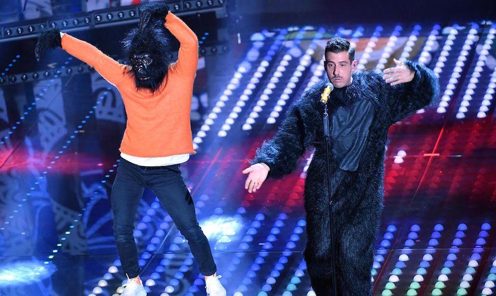 Francesco Gabbani, sul palco dell'Ariston