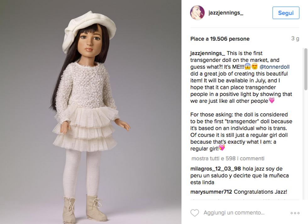 Jazz, la prima bambola transgender