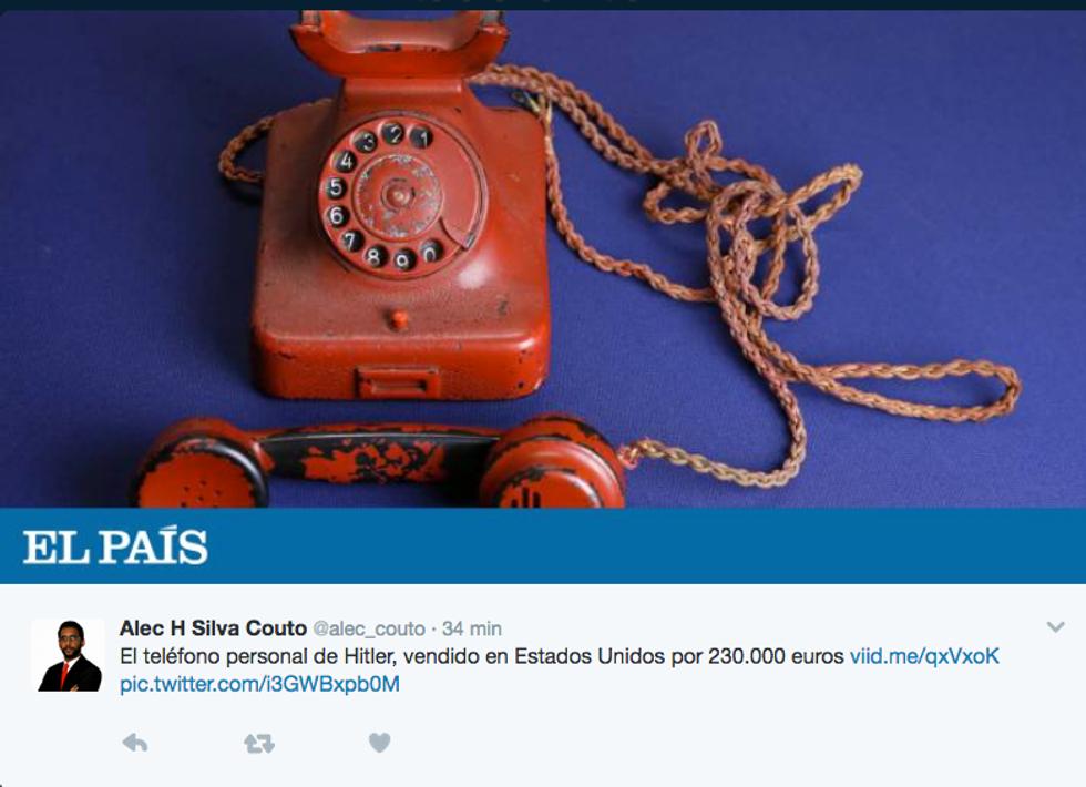 Il telefono rosso di Hitler battuto all'asta per 243.000 dollari
