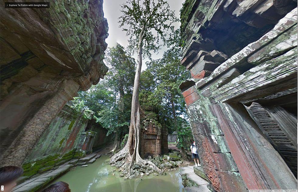 Google Street View nei templi di Angkor, in Cambogia