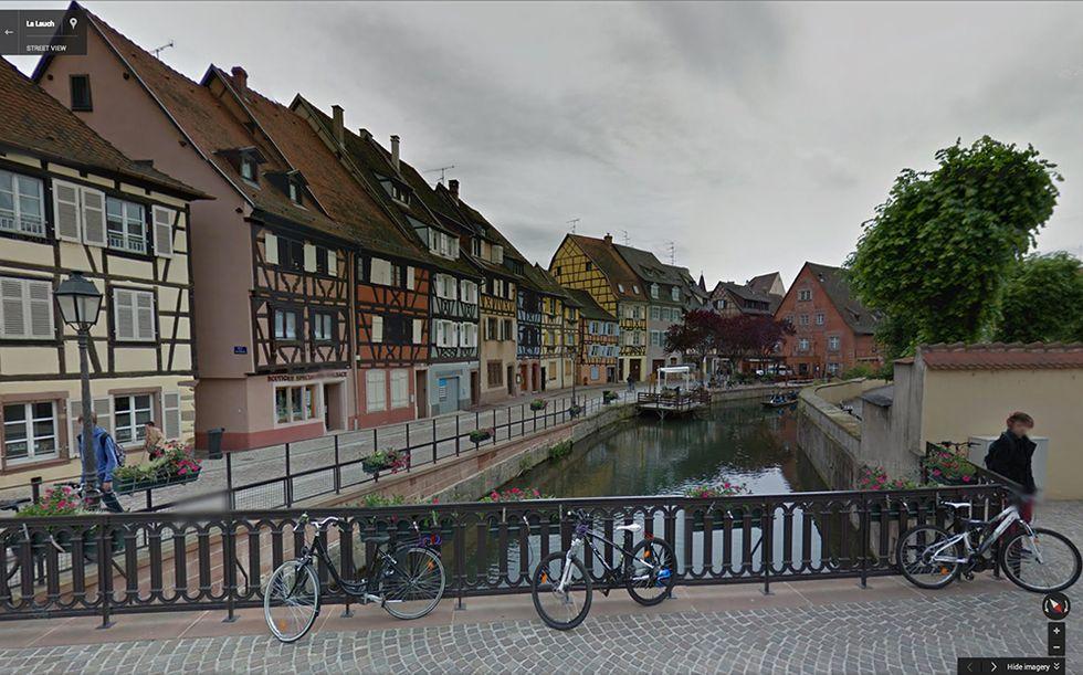 Google Street View a Colmar, in Alsazia