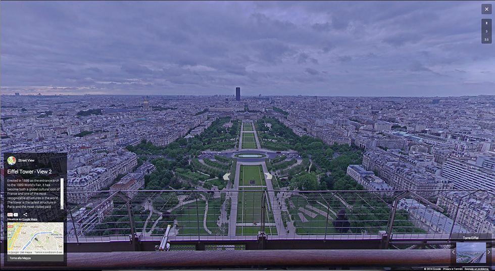 Google Street View: Parigi vista dalla Tour Eiffel