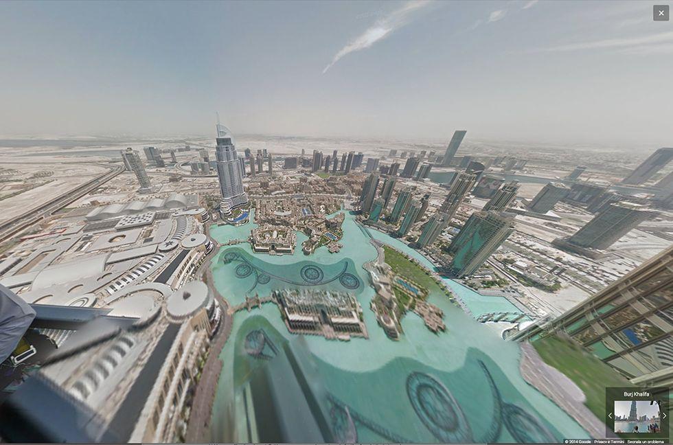 Google Street View sul Burj Khalifa, l'edificio più alto del mondo