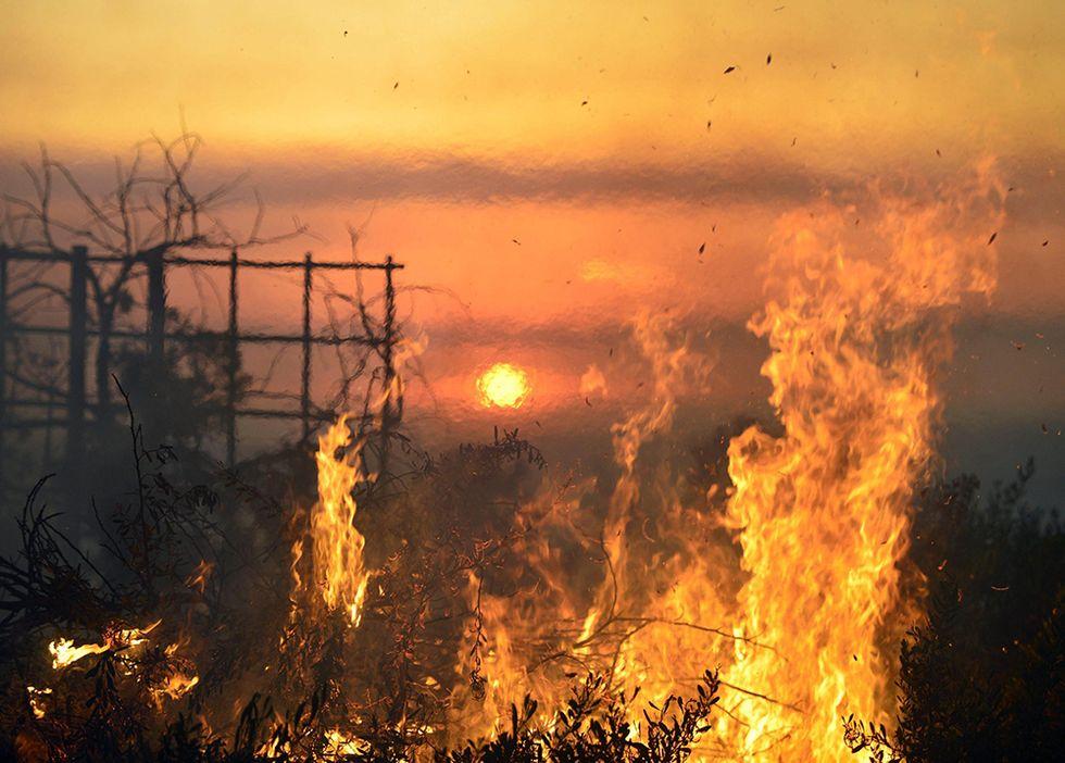 Le foto della California in fiamme
