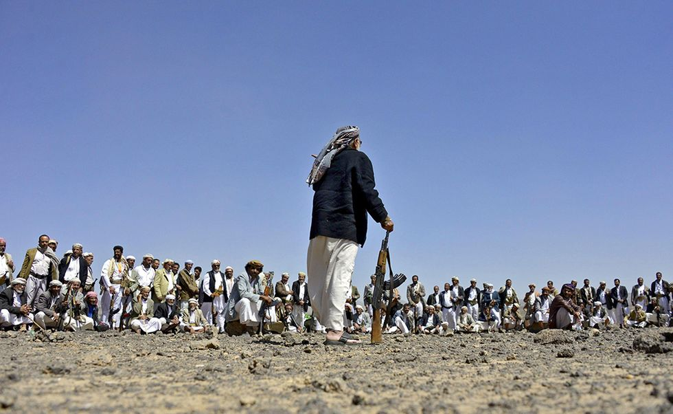 Yemen, foto da una riunione tribale
