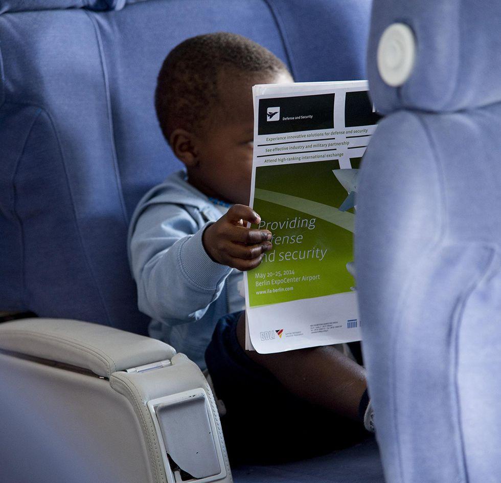 Il viaggio verso l'Italia dei 31 bambini del Congo
