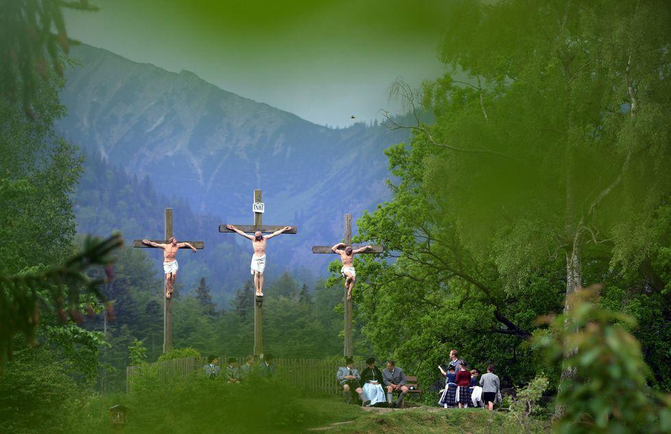 Processione per la festa dell'Ascensione in Baviera