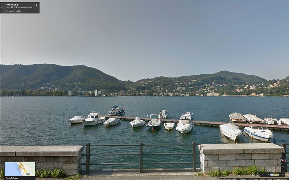 Google Street View sul Lago di Como