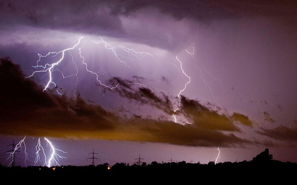 Tempesta di fulmini sulla Germania - Foto