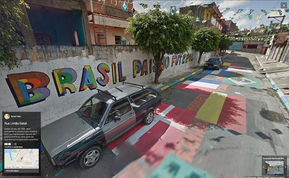 Google Street View in Brasile: le strade dipinte dei Mondiali