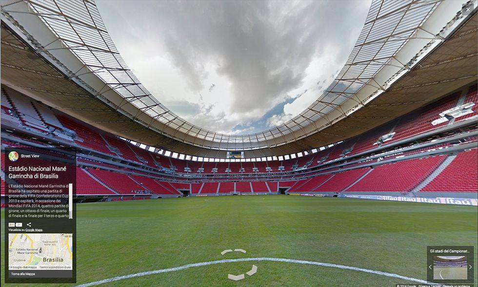 Google Street View in Brasile, negli stadi dei Mondiali