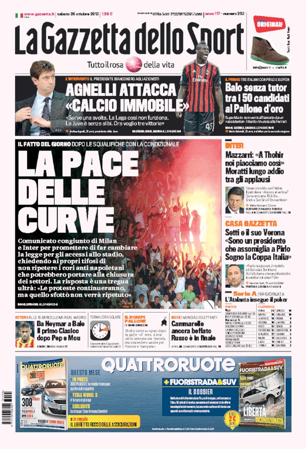 RASSEGNA - La resa del calcio italiano