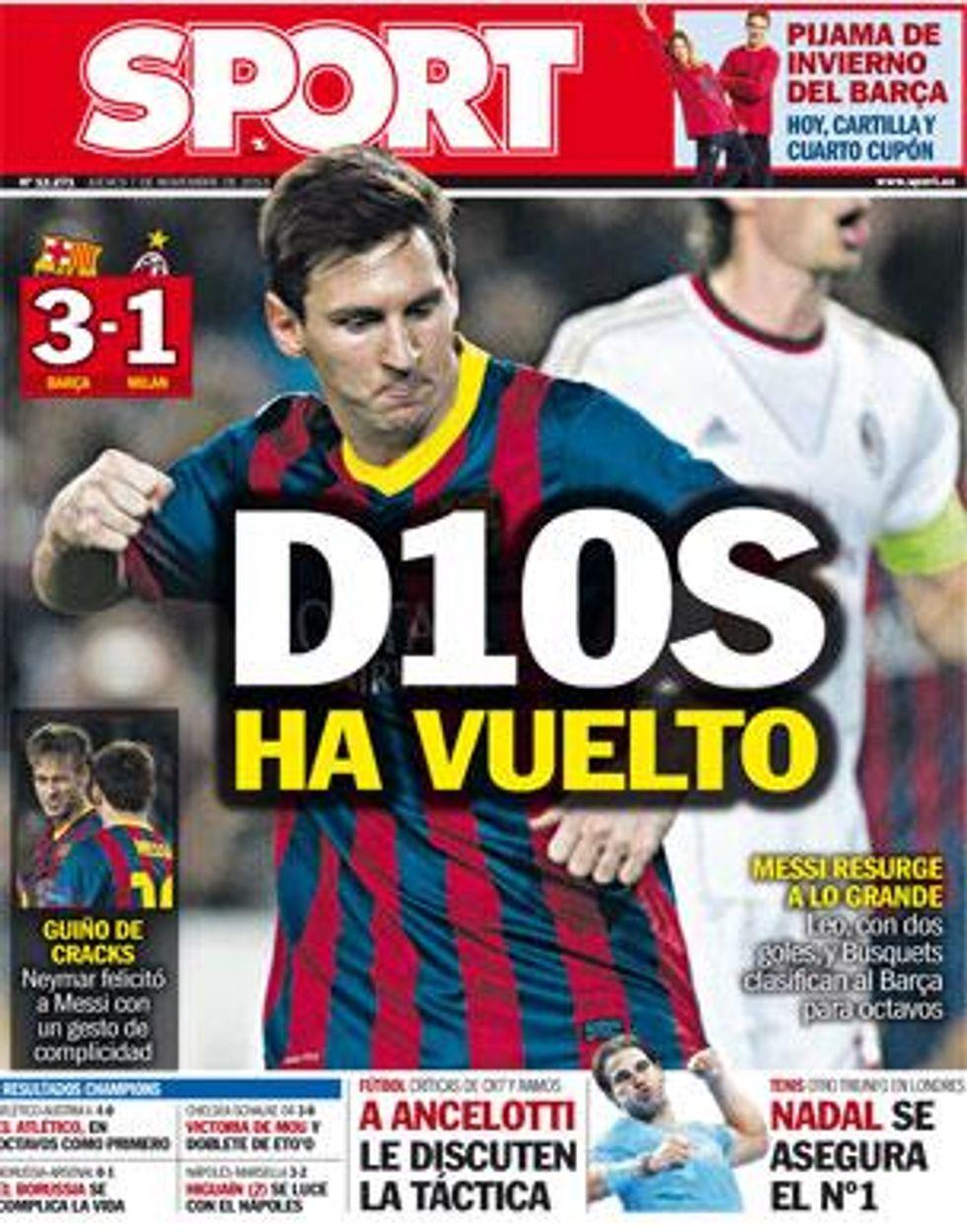 RASSEGNA - Messi schiaccia il Milan