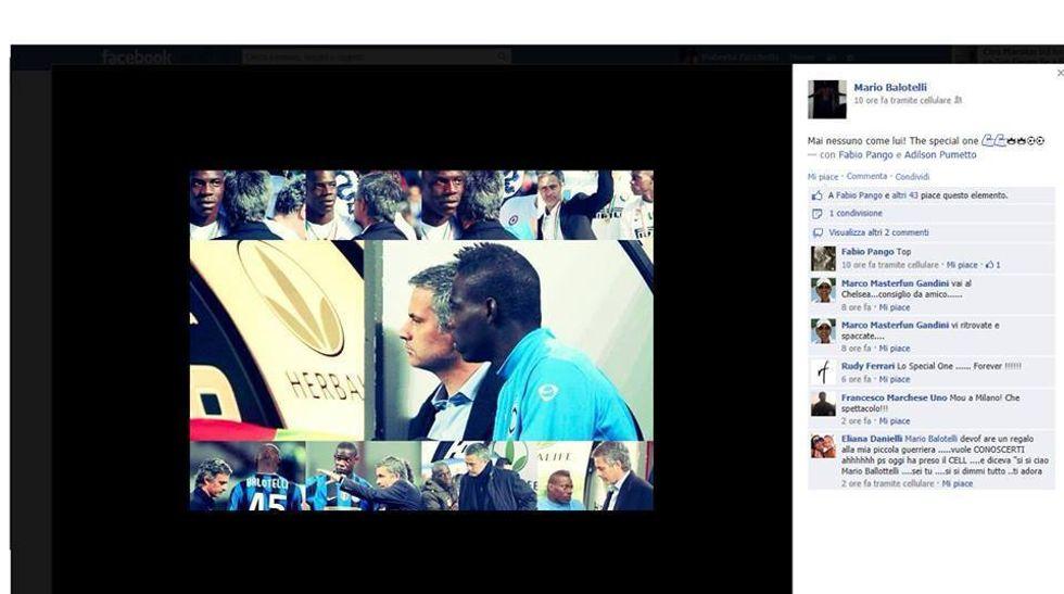 E Balo su Facebook esalta Mourinho...